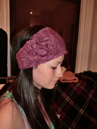 Wineberry headband/ear warmer