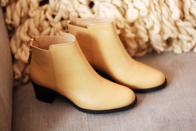 cream ankle boots