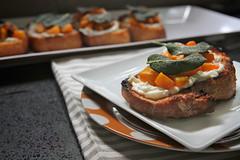 butternut squash ricotta & sage crostini (shutterbean) Tags: recipe sage squash vegetarian ricotta butternut crostini shutterbean friedsage butternutsquashricottasagecrostini