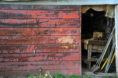 Farm Shed (Hound of Culann) Tags: red farm rustic shed flickrchallengegroup flickrchallengewinner