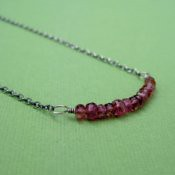 Delicate Pink Tourmaline Necklace