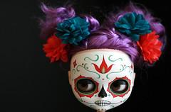 m calavera 003 (Kittytoes) Tags: dayofthedead skull doll sugar diadelosmuertos blythe commission calavera melancholykitties