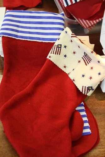 Sewing Xmas Stockings for the Troops!