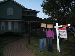 Day 285 (Mr. Boxhead) Tags: house selfportrait sold 365 boxhead 365days threesixtyfive mrsboxhead
