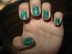 Primeira postagem: 5Cinco - Verde gua com Oninha (Aline A. Luiz) Tags: verde gua ona carimbo oncinha konad 5cinco