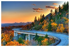 Linn Cove Viaduct (N Gyawali) Tags: bridge autumn fall nature colors landscape nc architechture october post n northcarolina blueridgeparkway mile 304 d90 foliate dhr linncoveviaduct roade gyawali