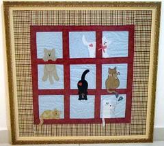 Quadro Gatinhos Sapeca (Patch da Lu) Tags: quilt gatos quadro patchwork