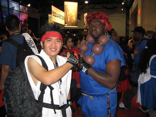 Ryu and Akuma