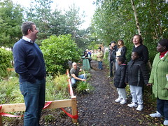 Meadow Planting by P Harvie MSP and Board members