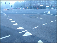 day2040 mon17oct2011 (a.pic.a.day) Tags: street morning blue mist amsterdam fog blauw crossing earlymorning straat kruising