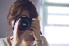 Mirrored (ashleymarionphotography) Tags: camera portrait window girl photoshop self canon photography ashley young m telephoto inside edit bambo