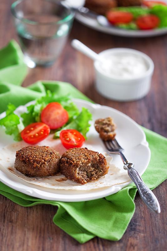 Vegan meatballs (eggplant, walnuts, etc.)
