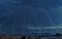 Mayhem (Eye of the Storm Photography) Tags: arizona clouds monsoon lightning cochisecounty