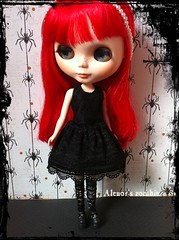"my girl ""Rotte"" (Sweet-by-Nim) Tags: red black halloween rose costume doll gothic blythe poison dolldress dolloutfit"