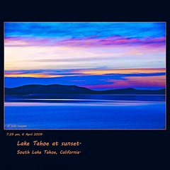 Lake Tahoe, California, U.S. (tim, TimCooperPhotos.com) Tags: blue sunset lake water landscape flickr laketahoe northamerica timcooper