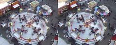 Ferris wheel Amsterdam, stereo photo (crossview) (Stereomania) Tags: holland netherlands amsterdam wheel stereoscopic stereophoto stereophotography 3d crosseye fuji cross nederland fair ferris x stereo ferriswheel stereoview paysbas kermis reuzenrad crossview zweefmolen fujireal3dw1