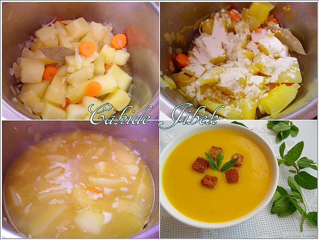 balkabağı çorbasının yapımı