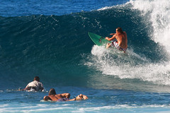 Surfer at Banzai Pipeline (Emily Miller Kauai) Tags: park beach hawaii oahu surfer wave surfing pipeline banzai ehukai