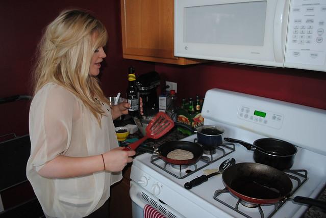 Schmeg--making pancakes