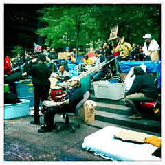 drum circle; #occupywallstreet still going strong.