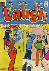 Laugh #245. August 1971 (Wires In The Walls) Tags: 1971 betty veronica cover comicbook laugh scanned archie 1970s reggie