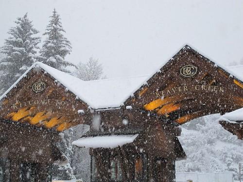 Beaver Creek Snowy Entrance  10 26 11