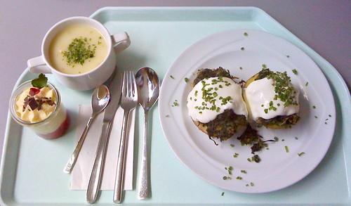 Farmerkartoffel & Kohlrabicremesuppe / Farmer potatoe & kohlrabi cream soup