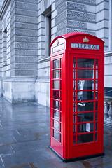 Iconic London Landmark (Jonathan.Russell) Tags: uk red england colour rain canon out stand phone bright box telephone royal housesofparliament sharp british tradition whitehall britannia 40d