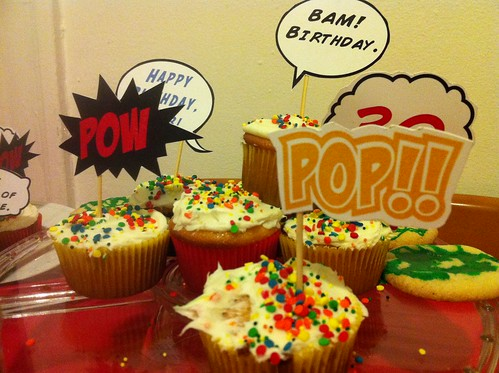 cupcake toppers! POW