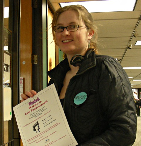 Heather Aronno at the UAA Student Union, October 2009