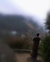 Foothills of the Himalayas (janetfo747) Tags: foothills fog shrine day hill budda himalayas rual napel