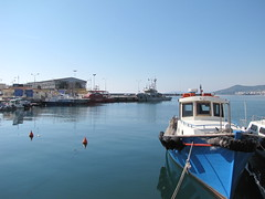 (Ellinika_1981) Tags: blue sea port marina greek coast boat fisherman guard aegean hellas greece grecia grece kavala hellenic      griechland