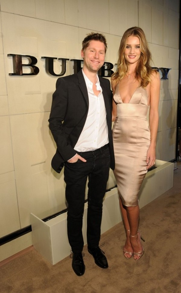 2 Christopher Bailey and Rosie Huntington-Whiteley at the Burberry Body event in LA