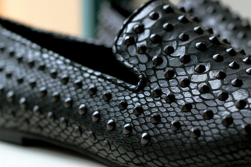 Saturday: studded loafers!