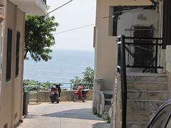 Kavala.... (Ellinika_1981) Tags: street sea house greek aegean hellas scooter greece motorbike macedonia grecia grece kavala ellada hellenic odos    griechland