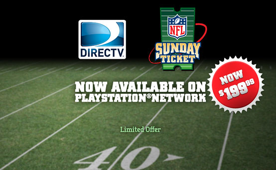 NFL Sunday Ticket on PSN
