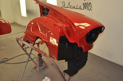 "1956 Series 62 Red Convertible Cadillac restoration • <a style=""font-size:0.8em;"" href=""http://www.flickr.com/photos/85572005@N00/6302988701/"" target=""_blank"">View on Flickr</a>"