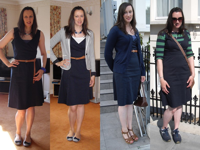 Next Navy Dress collage 1