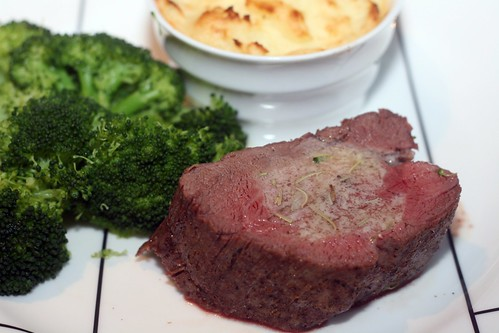 beef tenderloin with herb butter
