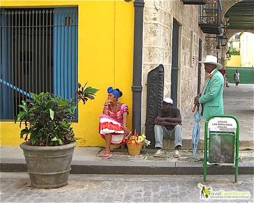 Colorful Locals Cathedral Plaza - Havana Vieja - Cuba
