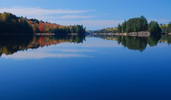Fish Lake Reflections (Ziemek T) Tags: reflection fall colours canoeing fishlake killarneyprovincialpark