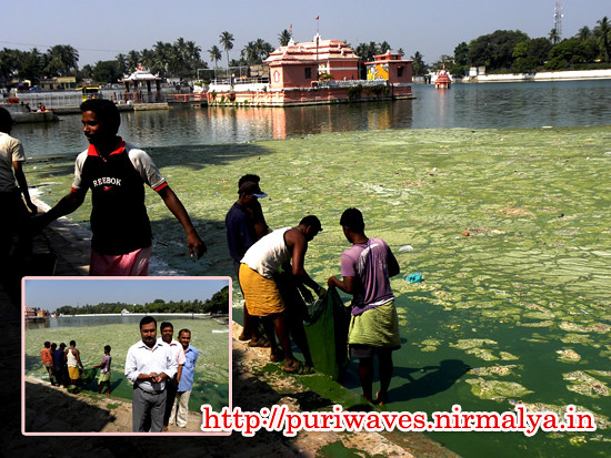 Cleaning the sacred Narendra Pond