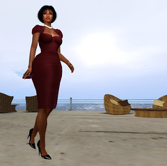 Eboni skin shape and icing dress (dagmar haiku) Tags: life woman fashion female necklace high women skins skin sl secondlife second heels icing females shape elegance ndmd mdnd