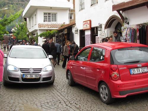 Traffic jam in Sirince village