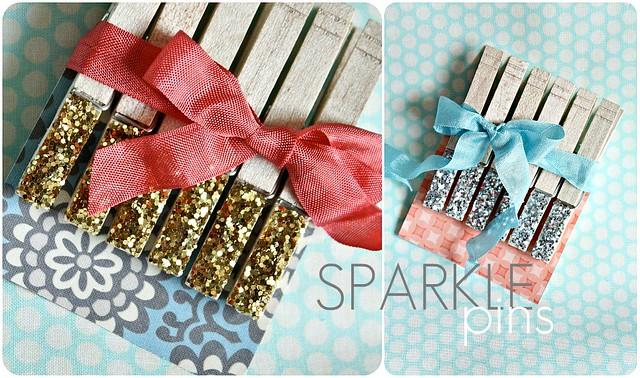 Sparkle Clothespins