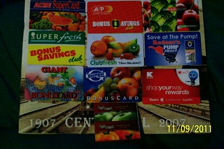 Various store cards