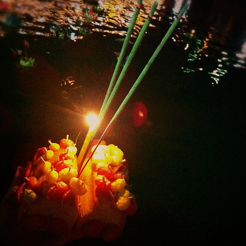  Loi #Krathong #Festival  #iphoneography #candle #Thailand