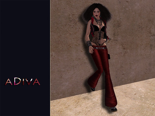 aDiva couture SweetDeb Leather Pants Outfit