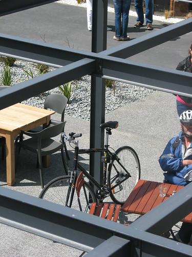 Bike parking in Cashel Mall