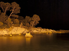 Forest on Mars (dav_pas) Tags: longexposure light sunset seascape france night landscape island rocks long exposure artificial paca cap var rockscape esterel dramont poselongue lungaesposizione capdramont iledor milkyeffect portpoussai